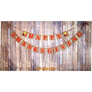 [USA-SALES] Happy Thanksgiving Day Banner, Thanksgiving Decorations, by USA-SALES Seller