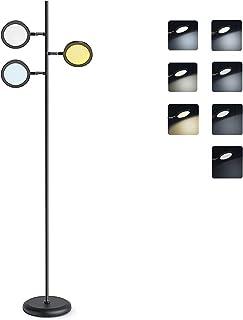 Lampes de sol 3 têtes 30 W 3 températures de couleur réglables linéaires de la luminosité pour canapé dans le salon, la ch...