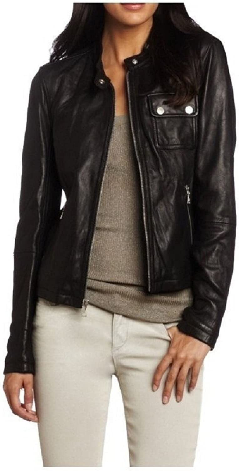 New Womens Motorcycle Genuine Sheep Leather Party Jacket LFW247