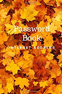 """Password Book Internet Address: keep private information to website address, username, password and notes size 6""""x9"""" make you easy to find and have phone page in backside."""