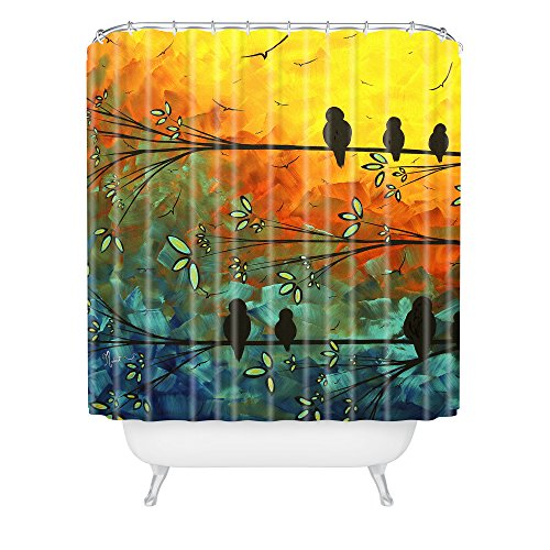 Sunset and birds on Tree Shower Curtain