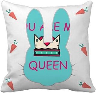 OFFbb-USA My Queen Royal Regina Majesty Rabbit - Funda cuadrada para almohada