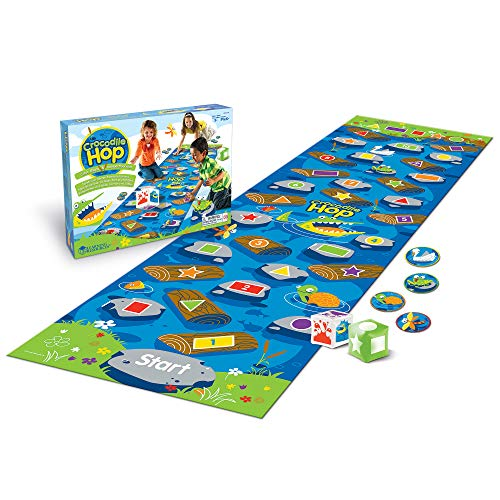 Learning Resources Crocodile Hop Floor Game, Early Learning Skills, Individual Or Group Play, Ages 3+,Multi-color,100 x 30 in