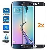 REY [Lot de 2] Protecteur d'écran 3D pour Samsung Galaxy S6 Edge Plus - Edge+, Noir,...