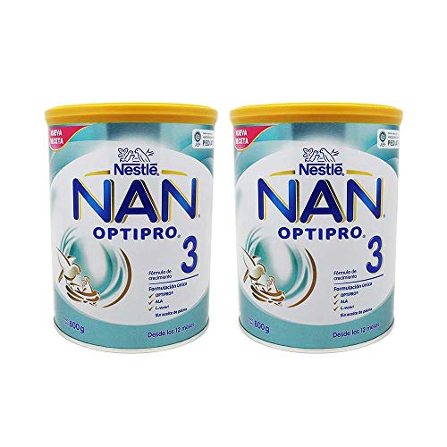 Nestlé Nan 3 Optipro 800+800gr, Blanco (019102762)