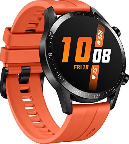 HUAWEI Watch GT 2 Smartwatch (46mm, OLED Touch-Display, Fitness Uhr mit Herzfrequenz-Messung, Musik Wiedergabe & Bluetooth Telefonie, 5ATM wasserdicht) sunset orange - 2