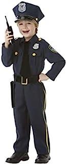 زي ضابط الشرطة الكلاسيكي للهالوين للاولاد من امسكان، مقاس large، مع الملحقات المتضمنة