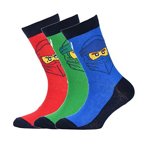 LEGO Ninjago 3 Pack Socks Pack de 3 calcetines, 349, 34/36 para Niños