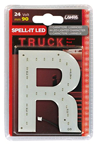 Lampa 98947. Sticker letter R, 24 V, rode LED