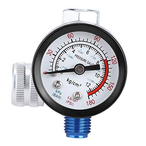 HEEPDD G1/4 luchtdrukregelaar met manometer, regelaar en manometerkit aluminiumlegering luchtcompressor vervanging-drukregelaar spuitpistool Air Adjustable Tool