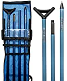 High Tide Premium Push Pole, 4-Piece Easy Assembly, Corrosion Proof, Durable Extension Pole, Stealth Fishing Tool, Fishing Accessory, Perfectly Balanced, Boat Hook, 22ft (Blue)