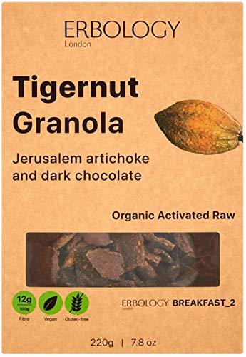 Organic Activated Granola with Dark Chocolate 220g - Raw - Vegan - Gluten-Free - Rich in Inulin