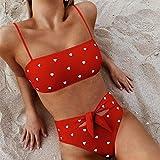 Trajedebaño Bikini traje de baño de las mujeres Sesiones de natación del traje de baño de 2 pedazos 2020 de moda de verano del sujetador atractivo y panty blanca determinada Body Beach Wear Tops