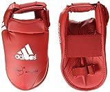 adidas - Protector de pie para kárate (Talla L), Color Rojo