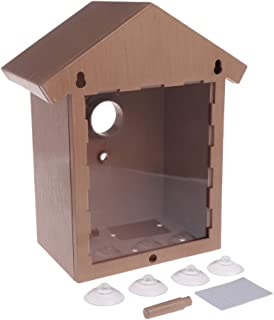 StarShine Window Bird Breeding with Removable Tray, Drain Holes and Suction Cups. Easy to Clean. Great Gift. Guaranteed For All Weather-DIY Nest Home