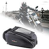 Magnetischer Motorrad-Tankrucksack Wasserdichte schwarze Tasche mit GPS-Fenster Travel Outdoor...