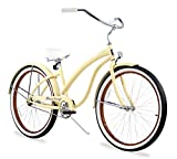 Firmstrong Bella Fashionista Single Speed Beach Cruiser Bicycle, 26-Inch, Vanilla