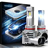 NINEO Wireless 9005 Led Bulbs,10000LM 60W HB3 Lights Direct Insertion ZES Chips w/small design Halogen Replacement 6500K Cool White All-in-One Conversion Kits