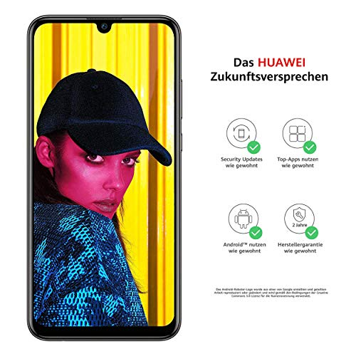 Huawei P smart 2019 BUNDLE (Dual-Sim Smartphone, 15,77 cm (6,21 Zoll), 64GB interner Speicher, 3GB RAM, Android 9.0) midnight black + gratis 16 GB Speicherkarte [Exklusiv bei Amazon]