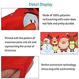 KATOOM Weihnachten Schürze Lustig Kochschürze Schneemann Weihnachtsmann Rentier Küchenschürze Rot Latzschürze für Weihnachtensparty Heiligabend Chef Damen Herren - 6