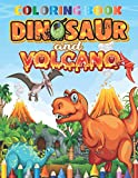 Dinosaur And Volcano Coloring Book: best Coloring Book for Boys, Girls, Toddlers, Preschoolers, Kids (Dinosaur and volcano Books)