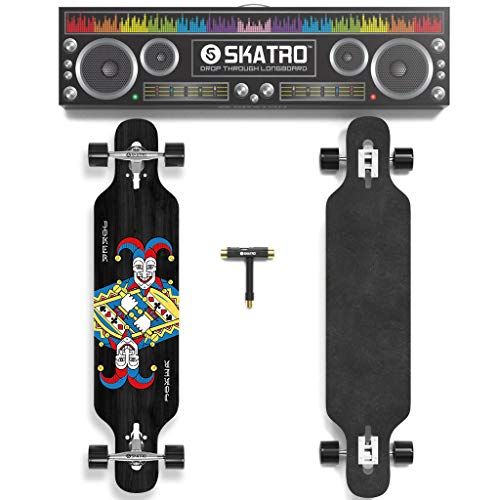 Skatro Drop Through Longboard Skateboard Freeride - Includes T-Tool