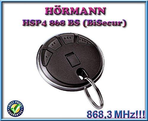 Preisvergleich Produktbild Hörmann HSP4868-BS schwarz Fernbedienung,  868, 3 MHz BiSecur 4-Kanal Transmitter. Top Qualität Original Hormann Fernbedienung für die besten Preis