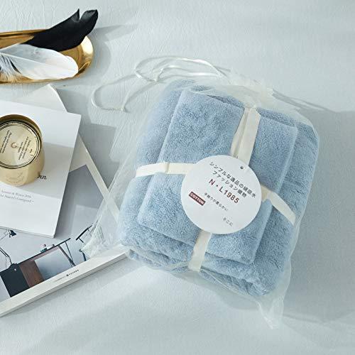 Telo da Bagno 丨 Asciugamani da Bagno Coppia di Velluto di Corallo Giapponese Asciugamano ad Asciugatura Rapida Set di Asciugamani da Bagno Set di Asciugamani assorbenti da Spinning Micron
