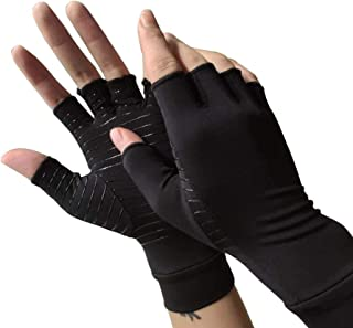 Arthritis Compression Gloves Copper Arthritis Gloves Women & Men for Osteoarthritis,Arthritis,Tendonitis and Typing-Rapid Recovery and Pain Relief for All Lifestyles(Pair) (M)