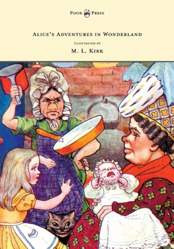 Alice\'s Adventures in Wonderland - With Twelve Full-Page Illustrations in Color by M. L. Kirk and Forty-Two Illustrations by John Tenniel (English Edition)