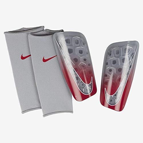 Nike Erwachsene Mercurial Lite Schienbeinschoner, Wolf Grey/Light Crimson/Pure Platinum, L/170-180 cm