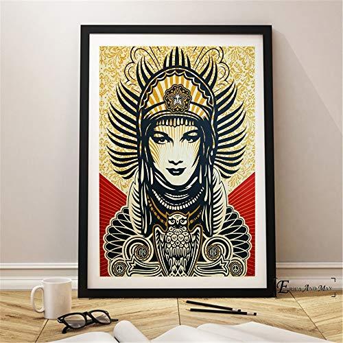 ganlanshu Kunst Keine Kriegsserie Wandplakat Schlafzimmer abstrakte Leinwand Kunst für Heimtextilien,Rahmenlose Malerei-50X75cm
