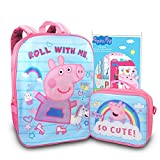 Peppa Pig Backpack Lunch Box Set For Kids, Toddlers ~ 3 Pc Bundle With Peppa Pig School Bag, Lunch Bag, And Sticker Activity Pack (Peppa Pig School Supplies)