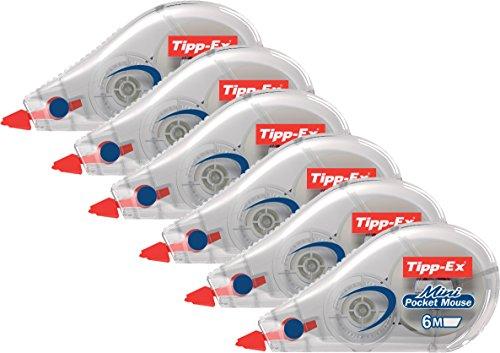 Tipp-Ex Mini Pocket Mouse Einweg-Korrekturroller 6 Stück