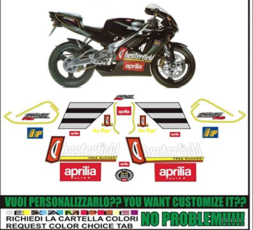 Kit adesivi decal stickers APRILIA RS 125 1995 CHESTERFIELD BIAGGI (ability to customize the colors)