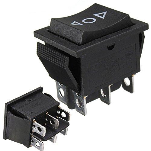 Wipptaster, 12 V, AC 250 V / 16 A, 6-Pin-Schalter, 2-poliger Umschalter, für Antenne, elektrische Fensterheber, Schiebedächer (1)