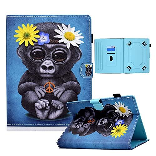 Funda universal para tablet de 9 a 10,1 pulgadas, funda protectora para Fire HD 10 Huawei Mediapad T3/T5 10 Fusion5 10.1 pulgadas, iPad 10.2 2019 Galaxy Tab A 10.1/Tab E 9.6 Lenovo Tab 3 (Orangutan)