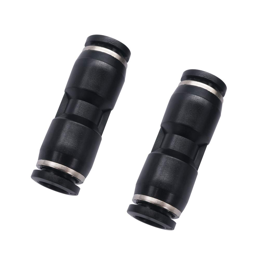 Two Way mxuteuk 10pcs 6mm Tube OD Straight Pneumatic Connector Push to Connect Tube Plastic PU-6