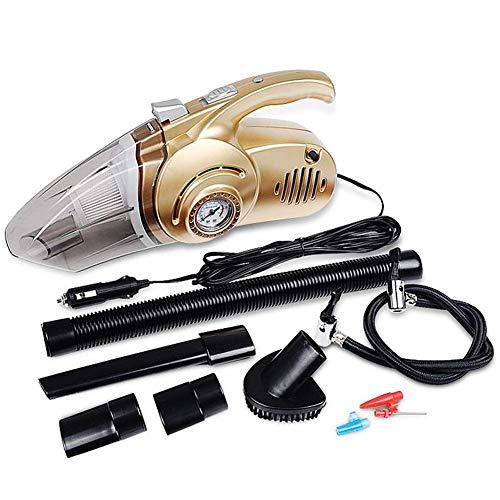YUQIYU 4-en-1 portátil aspirador del coche de mano con presión de neumáticos digital de la bomba for inflar con aire húmedos y secos Uso