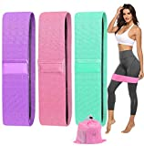 ORWINE Resistance Bands for Legs and Butt Exercise Bands for Women Workout Booty Bands Fitness Bands Fabric Resistance Loops Band for Yoga Pilates Squats Deadlifts Glute Hip Sports 3 Resistance Levels