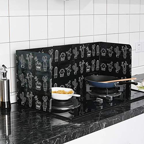 Anti-Splatter Schild, Faltbarer Ölspritzerschutz Schutz Küche die Bratpfannen Öl Gasherd Abdeckung für Home Restaurant Küche(EIN)