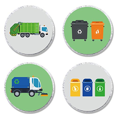 MAGJUCHE Garbage Trash Truck Party Candy Stickers, Boy Birthday Party...