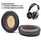 Brown Ear Pads Cushion for Sennheiser HD1 Momentum 1 Momentum 2.0 (M2) Wireless Over Ear Headphones