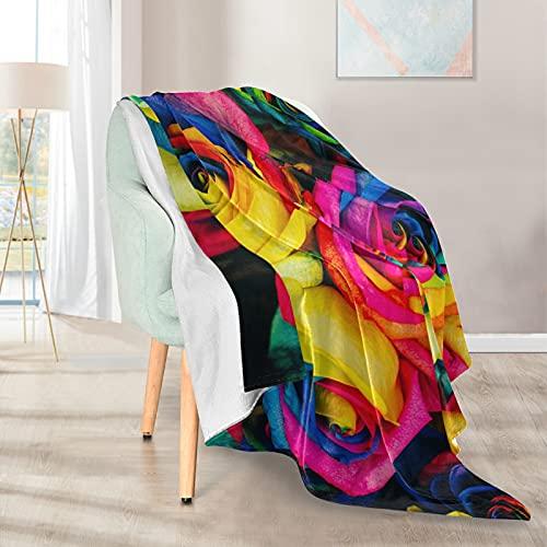 Mantas suaves y cálidas, 127 x 152 cm, color rosa, ligera, corta, de microfibra, 1 para casa, cama, sofá, sofá, viajes, camping, oficina