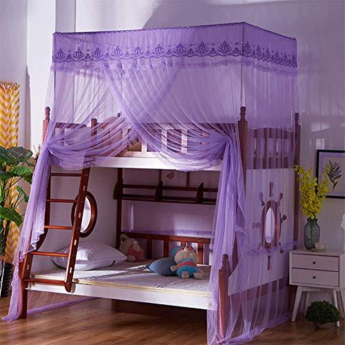 DHTOMC Mosquitero mosquitero, cortina de cama, aire acondicionado, mosquitero, cama para estudiantes, dormitorio retro, tamaño 80 x 190 x 260 cm)