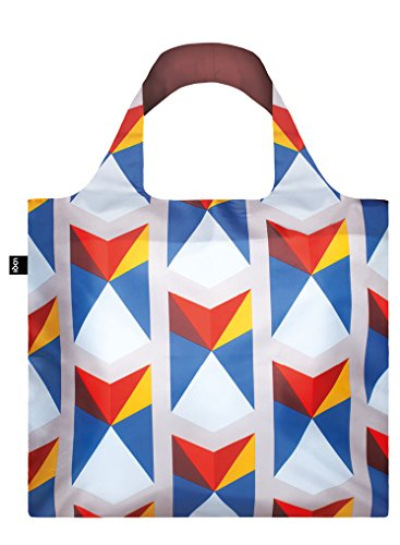 Geometric Triangles Bag: Gewicht 55 g, Größe 50 x 42 cm, Zip-Etui 11 x 11.5 cm, Handle 27 cm, Water Resistant, Made of Polyester, Oeko-TEX Certified, can Carry up to 20 kg