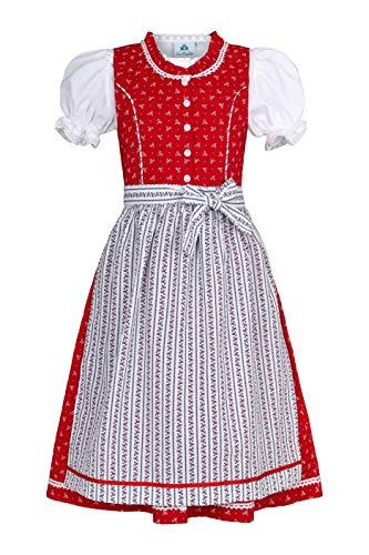 Isar-Trachten Kinderdirndl Ida rot oder pink (rot, 140)