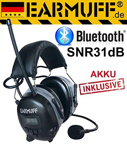 Earmuff DS-alert dynamische 31 dB gehoorbescherming met bluetooth en omgevingswaarneming