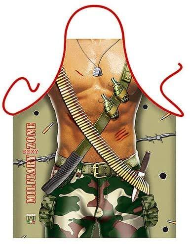 ITATI Tablier de cuisine anti-taches pour homme, modèle militaire, dimensions 75 x 58 cm