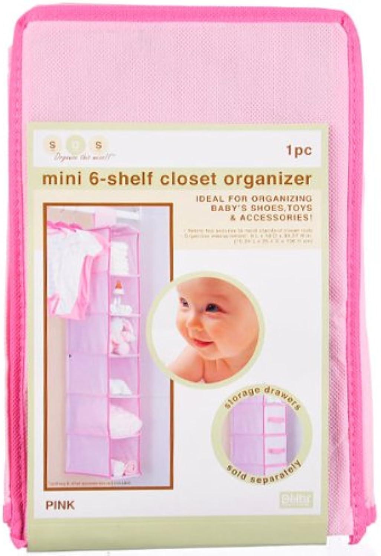 Delta Sos Mini 6-Shelf Closet Organizer - Light Pink, One Size
